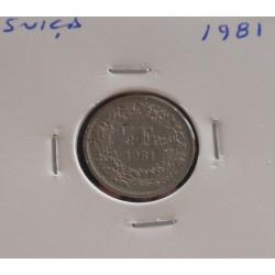 Suiça - 1/2 Franc - 1981