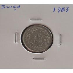Suiça - 1/2 Franc - 1983