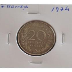 França - 20 Centimes - 1974