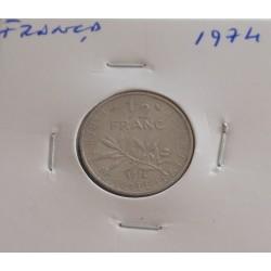 França - 1/2 Franc - 1974