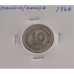 Malásia / Malaya - 10 Cents...