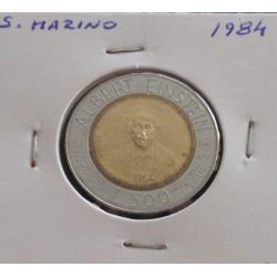 S. Marino - 500 Lire - 1984