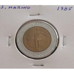 S. Marino - 500 Lire - 1985