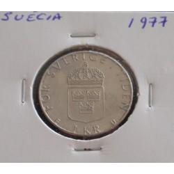 Suécia - 1 Krona - 1977