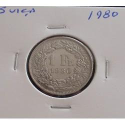 Suiça - 1 Franc - 1980