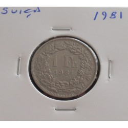 Suiça - 1 Franc - 1981