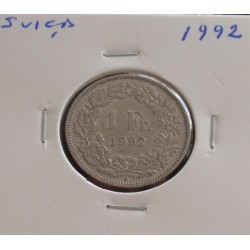 Suiça - 1 Franc - 1992