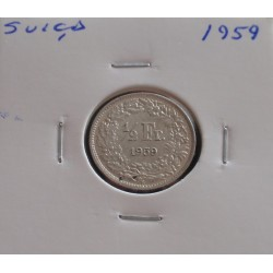 Suiça - 1/2 Franc - 1959 -...