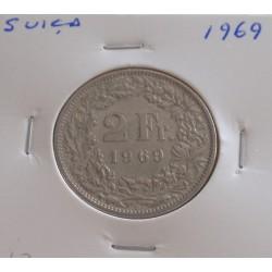 Suiça - 2 Francs - 1969