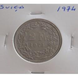 Suiça - 2 Francs - 1974
