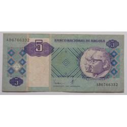 Angola - 5 Kwanzas - 10/1999
