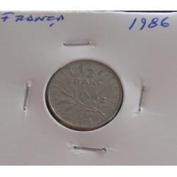 França - 1/2 Franc - 1986