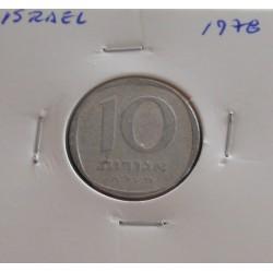 Israel - 10 Agorot - 1978