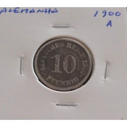 Alemanha - 10 Pfennig - 1900 A