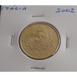 Itália - 50 Centimos - 2002