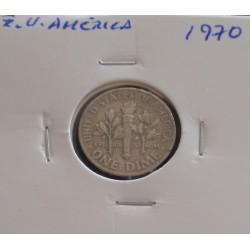 E. U. América - 1 Dime - 1970