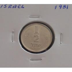 Israel - 1/2 Sheqel - 1981