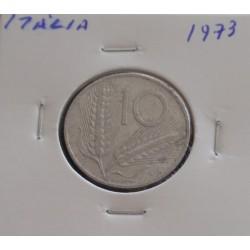 Itália - 10 Lire - 1973