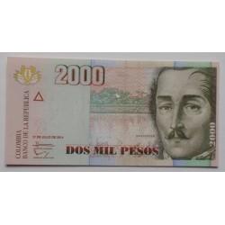 Colômbia - 2000 Pesos  -...