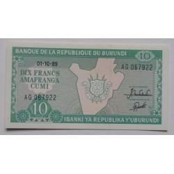 Burundi - 10 Francs -...