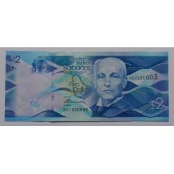 Barbados - 2 Dollars -...