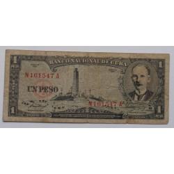 Cuba - 1 Peso - 1957