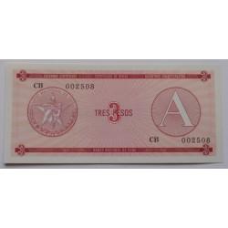 Cuba - 3 Pesos - 1985 - Nova