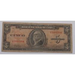 Cuba - 5 Pesos - 1949