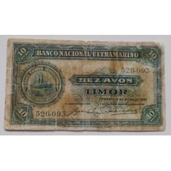 Timor - 10 Avos - 19/07/1940