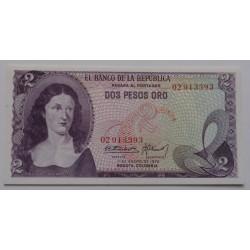 Colômbia - 2 Pesos Oro -...