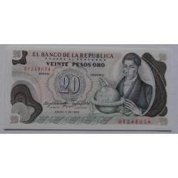 Colômbia - 20 Pesos Oro -...
