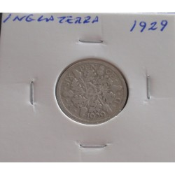 Inglaterra - 6 Pence - 1929...