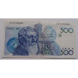 Bélgica - 500 francs - 1980/81