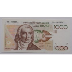 Bélgica - 1000 francs -...