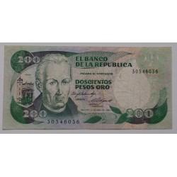 Colômbia - 200 Pesos Oro -...