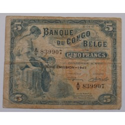Bélgica / Congo Belga - 5...