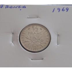 França - 1/2 Franc - 1969