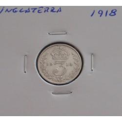 Inglaterra - 3 Pence - 1918...