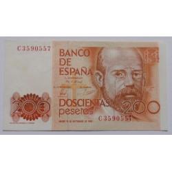 Espanha - 200 Pesetas -...