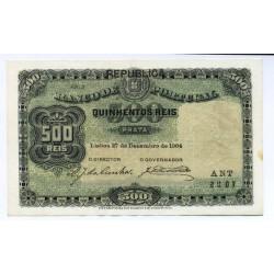 Portugal - Nota - 500 Réis - 27/12 1904 (c/ Républica)