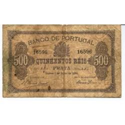 Portugal - Nota - 500 Réis - 1/7/ 1891 (16596)