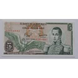 Colômbia - 5 Pesos Oro -...