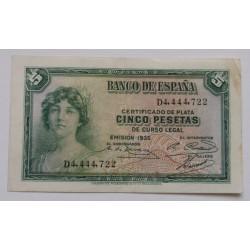 Espanha - 5 Pesetas - 1935