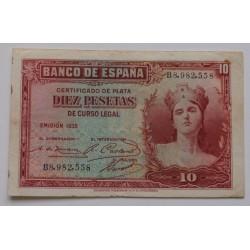 Espanha - 10 Pesetas - 1935