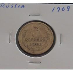 Rússia - 3 Kopeks - 1969