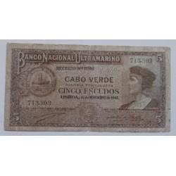 Cabo Verde - 5 Escudos -...