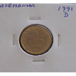 Alemanha - 5 Pfennig - 1991 D
