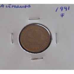 Alemanha - 5 Pfennig - 1991 F