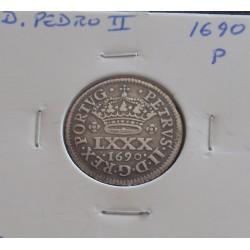 D. Pedro II - Tostão - 1690...