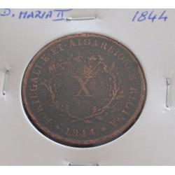 D. Maria II - X Réis - 1844